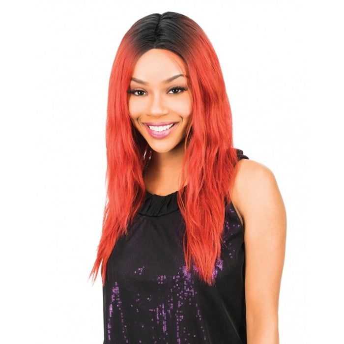 MLI314 | Magic Synthetic Lace Front Wig - Hair to Beauty | Color Shown : DYX/REDWINE
