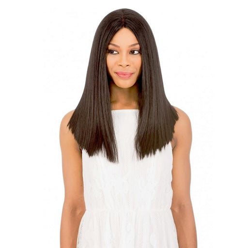 MLUH101 | Chade New Born Free Magic Human Hair Blend 4x4 U-Shape Lace Frontal Wig - Hair to Beauty | Color Shown: 1B