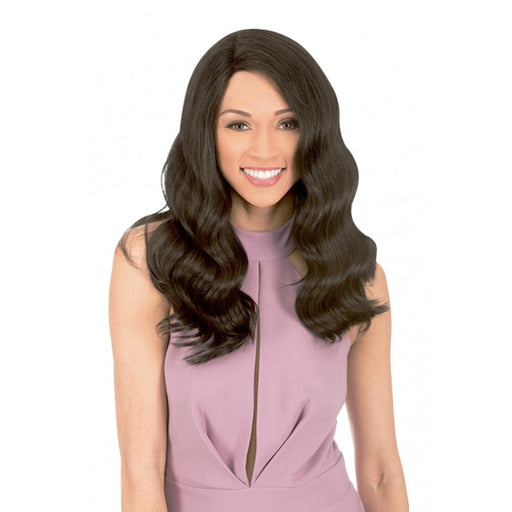 MLUH102 | Chade New Born Free Magic Human Hair Blend 4x4 U-Shape Lace Frontal Wig - Hair to Beauty | Color Shown: 1B