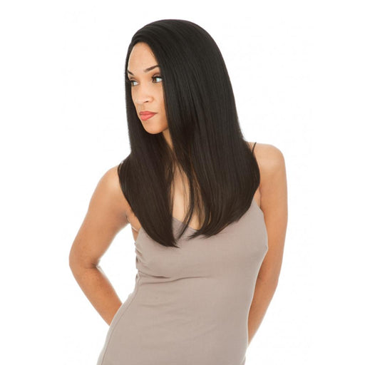 MLUH107 | Magic Human Hair Blend 4x4 Lace Frontal Wig - Hair to Beauty | Color Shown: 1B