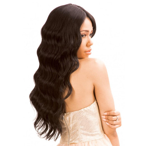 MLUH94 | Chade New Born Free Magic Human Hair Blend 4x4 U-Shape Lace Frontal Wig - Hair to Beauty | Color Shown: 1B