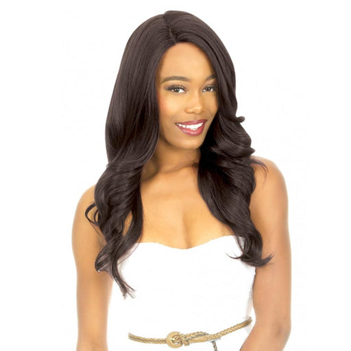 MLUH95 | Chade New Born Free Magic Human Hair Blend 4x4 U-Shape Lace Frontal Wig - Hair to Beauty | Color Shown: 1B