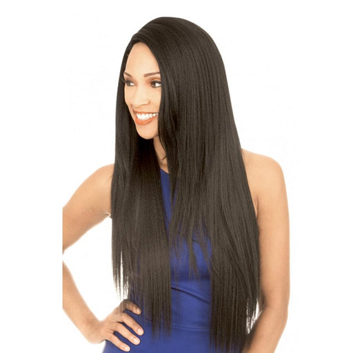 MLUH98 | Chade New Born Free Magic Human Hair Blend 4x4 U-Shape Lace Frontal Wig - Hair to Beauty | Color Shown: 1B