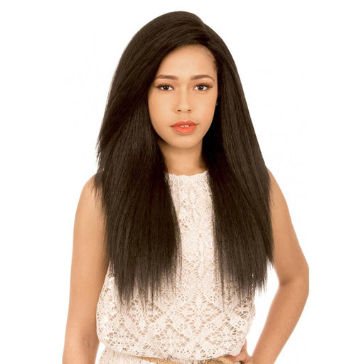 MLUH99 | Chade New Born Free Magic Human Hair Blend 4x4 U-Shape Lace Frontal Wig - Hair to Beauty | Color Shown: 1B