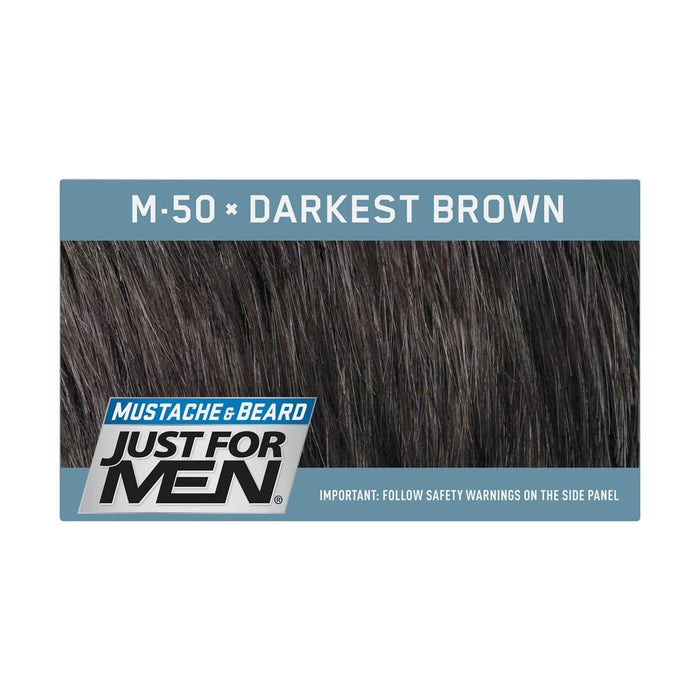 Just For Men | Mustache and Beard Brush-In Color Gel - Hair to Beauty | Color Shown : Darkest Brown