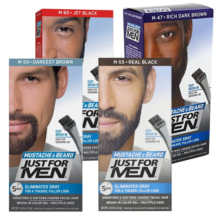 Just For Men | Mustache and Beard Brush-In Color Gel - Hair to Beauty