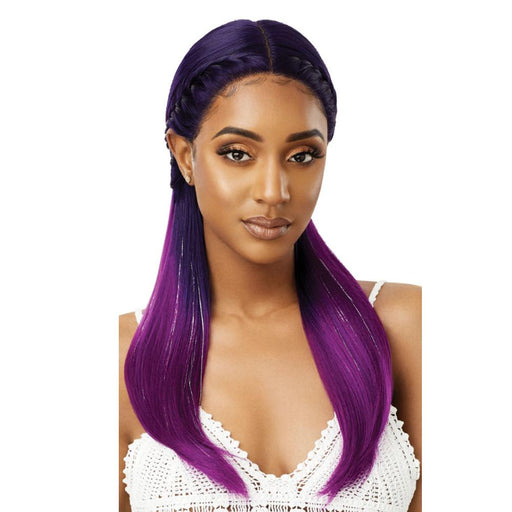 MYSTIQUE | Color Bomb Synthetic Swiss Lace Front Wig - Hair to Beauty | Color Shown: DR INDIGO VIOLET