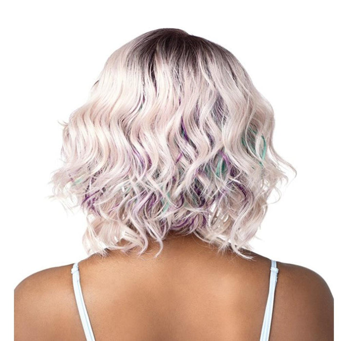 NAKIDA | Shear Muse Synthetic Lace Front Wig - Hair to Beauty | Color Shown: ICY BERRY