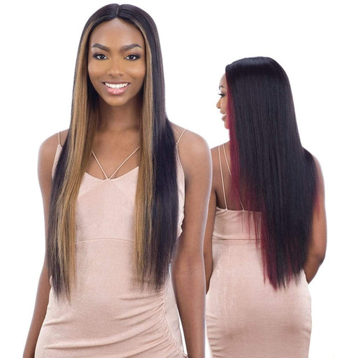 NATURAL 703 | Naked Human Hair Freedom 5 Inch Lace Part Wig - Hair to Beauty | Color Shown :  FF27