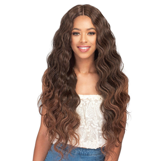NATURAL BODY WAVE | Bobbi Boss Miss Origin Human Hair Blend One Pack Solution Weave - Hair to Beauty | Color Shown : T1B/30