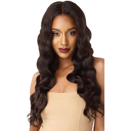 NATURAL DEEP WAVE | Outre &Play Bundle Edition Human Hair Blend 13x4 Lace Frontal Wig - Hair to Beauty | Color Shown: NATURAL BROWN