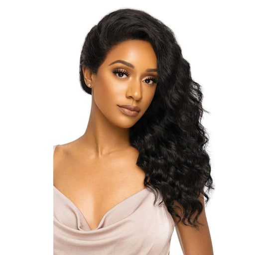 NATURAL FREE DEEP | MyTresses Platinum Label HD Human Hair 360 Lace Customized Wig - Hair to Beauty | Color Shown: NATURAL BROWN