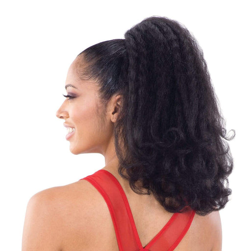 NATURAL GIRL | Synthetic Ponytail (LG ROD) - Hair to Beauty | Color Shown: 1B
