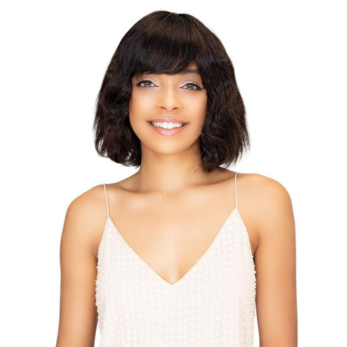 BRAZILIAN NATURAL MISTY | Janet Collection Unprocessed Remy Human Hair Wig - Hair to Beauty | Color Shown : NATURAL BLACK