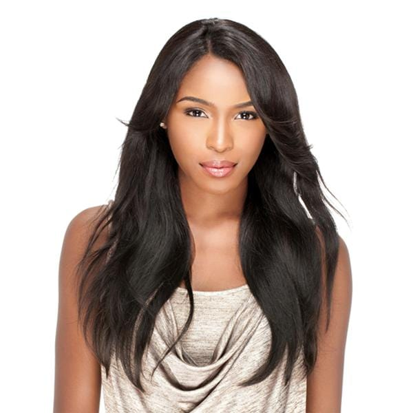 NATURAL STRAIGHT | Sensationnel Bare & Natural Brazilian Unprocessed Remi L-Part Lace Wig - Hair to Beauty | Color Shown: NATURAL