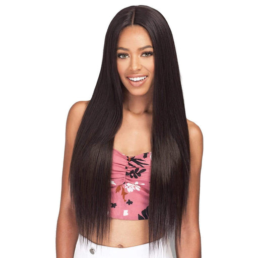 NATURAL STRAIGHT | Bobbi Boss Miss Origin Human Hair Blend One Pack Solution Weave - Hair to Beauty | Color Shown : 4
