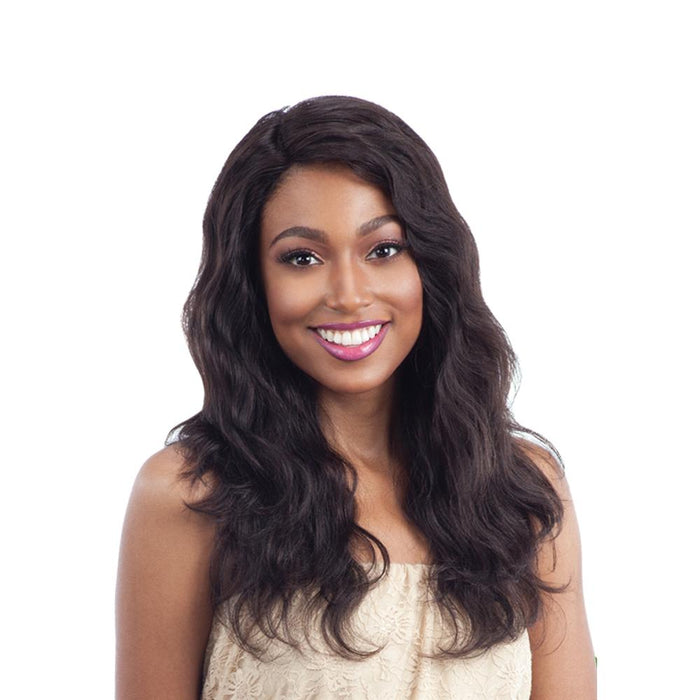 NATURAL WAVY | Unprocessed Human Hair Lace Front Wig - Hair to Beauty | Color Shown : NATURAL