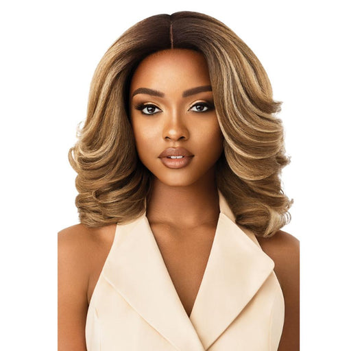 NEESHA 204 | Soft & Natural Lace Front Wig - Hair to Beauty | Color Shown: DR4/Mushroom Blonde