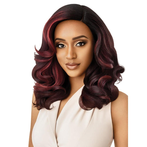 NEESHA 205 | Soft & Natural Lace Front Wig - Hair to Beauty | Color Shown: DRFF RED VELVET