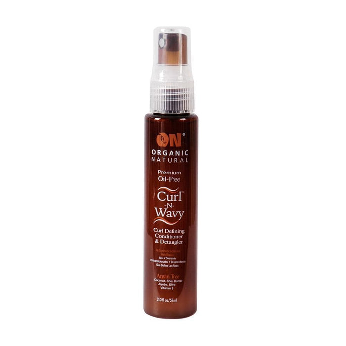 ON NATURAL | Curl N Wavy Argan Tree Curl Defining Conditioner and Detangler.