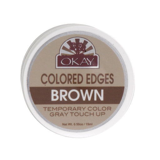 OKAY | Colored Edges Brown 0.5oz - Hair to beauty