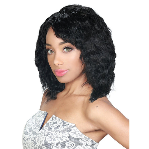 WW NATURAL BODY 8 INCH | Zury Sis Only Blue Brazilian Unprocessed Virgin Remy Human Hair Weave - Hair to Beauty | Color Shown : NATURAL BLACK