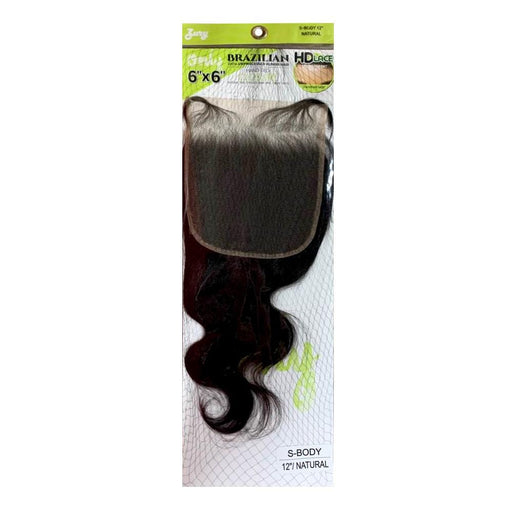 S-BODY | Only Brz Unprocessed Human Hair 6X6 HD Lace Closure  - Hair to Beauty | Color Shown : NATURAL