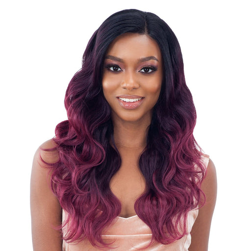 "BODY WAVE 4PCS | Organique Mastermix Synthetic Weave (14""/16""/18"") + Lace Closure - Hair to Beauty 