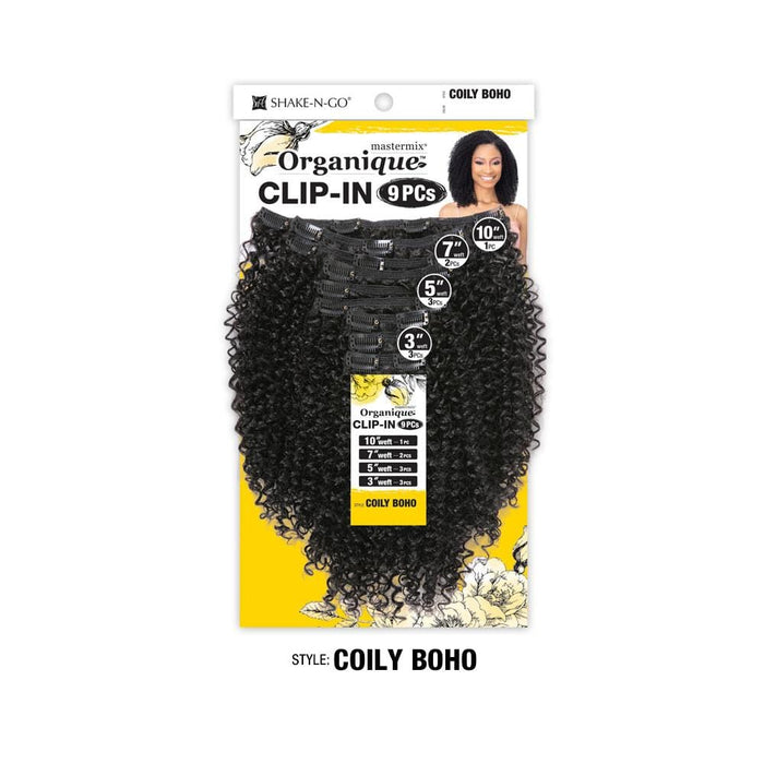 COILY BOHO | Organique Mastermix Clip-In 9 PCs - Hair to Beauty | Color Shown: 1B