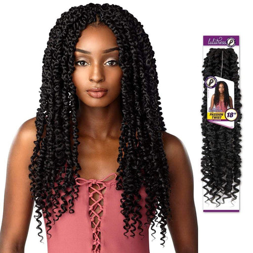PASSION TWIST 18 INCH | Sensationnel Lulutress Synthetic Crochet Braid - Hair to Beauty | Color Shown : 2
