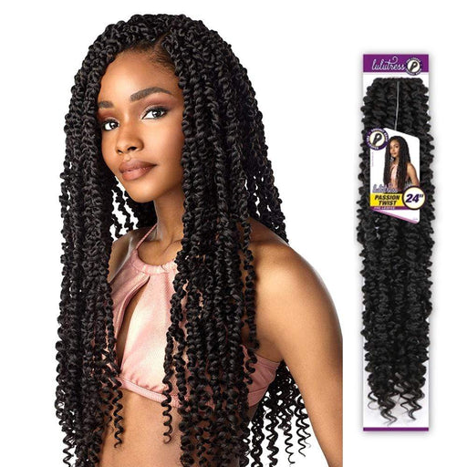PASSION TWIST 24 INCH | Sensationnel Lulutress Synthetic Crochet Braid - Hair to Beauty | Color Shown : 2
