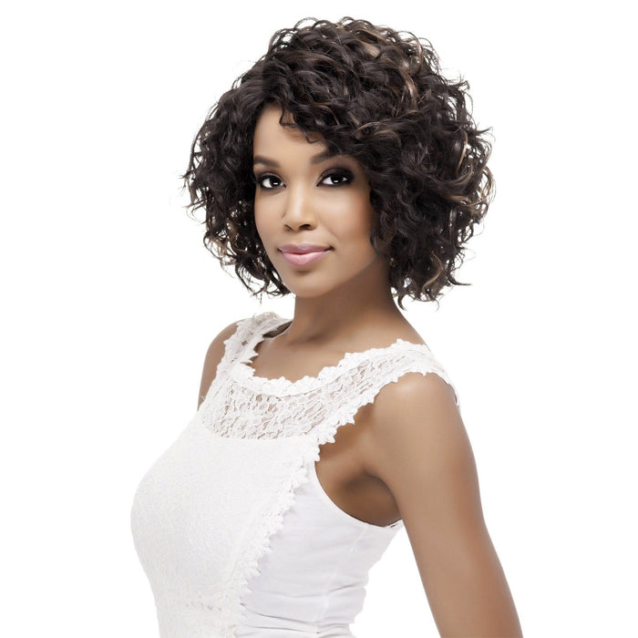 PAULETTE | Vivica A. Fox Synthetic Natural Baby Hair Invisible Part Swiss Lace Front Wig - Hair to Beauty | Color Shown: FS4/27