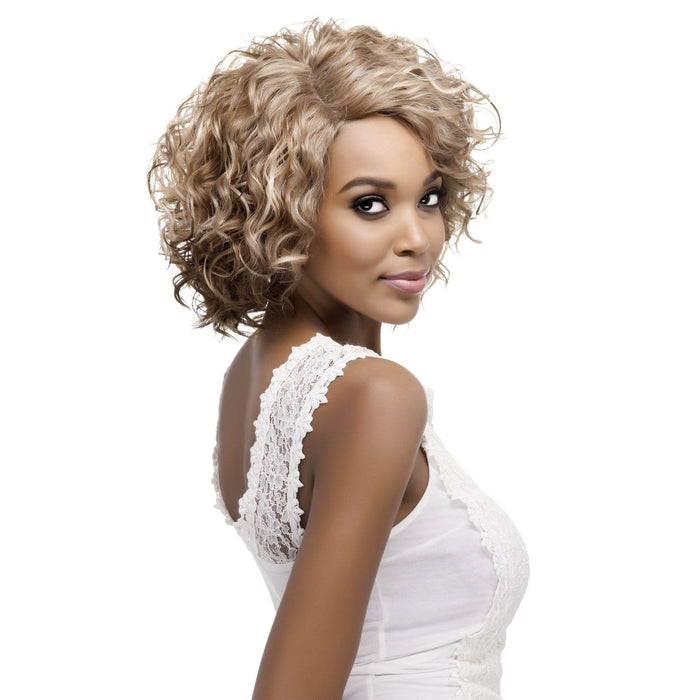 PAULETTE | Vivica A. Fox Synthetic Natural Baby Hair Invisible Part Swiss Lace Front Wig - Hair to Beauty | Color Shown: P2216