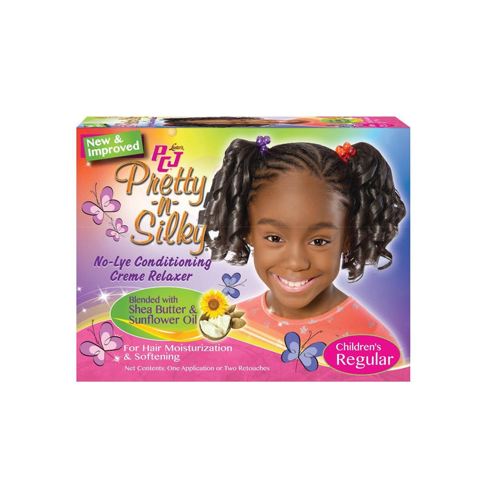 P.C.J. | No-Lye Children's Conditioning Creme Relaxer 2app Kit Regular.