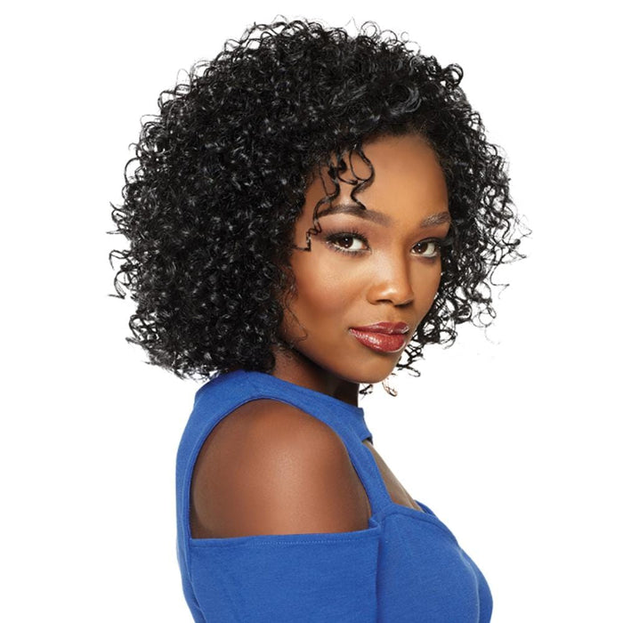 PENNY | Up Do U Quick Weave Synthetic Half Wig - Hair to Beauty | Color Shown: 1B