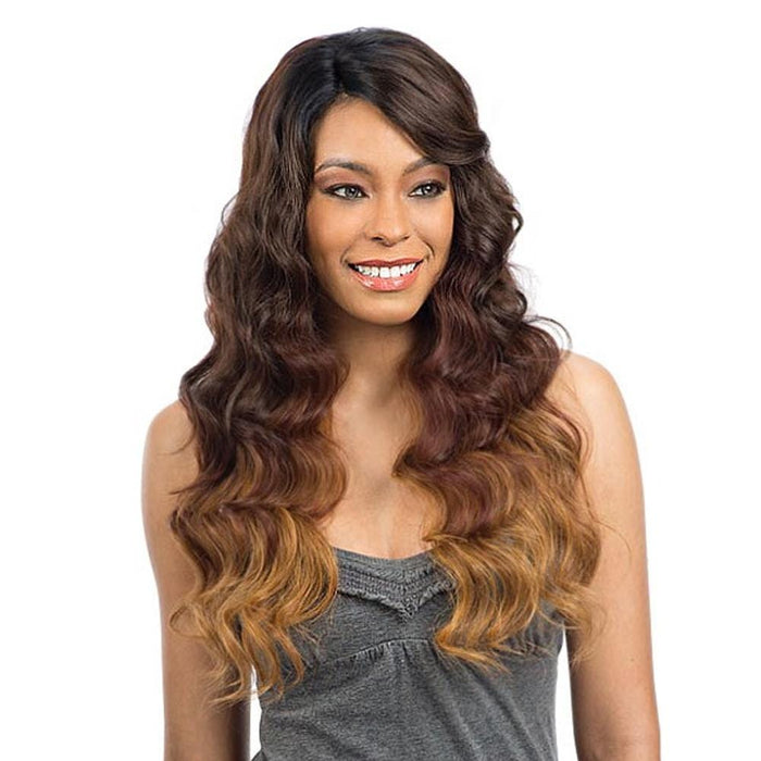 PERUVIAN NATURAL WAVE | Synthetic Deep Diagonal Part Lace Front Wig - Hair to Beauty | Color Shown: OM239