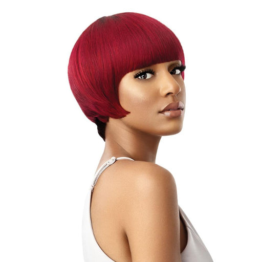 PIXIE BLUNT BOB | Duby Human Hair Wig - Hair to Beauty | Color Shown: DRB BURGUNDY