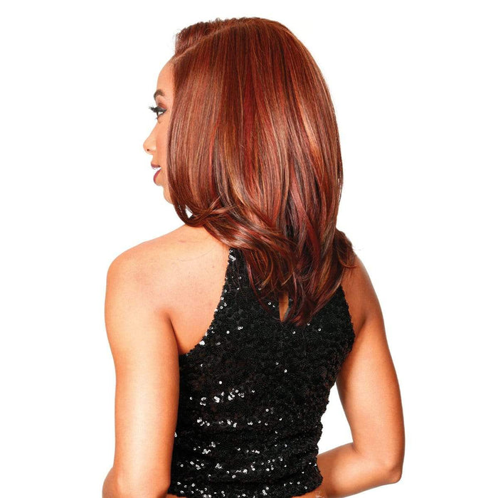 PM-FRONTAL LACE RITZ | Human Hair Blend HD Lace Front Wig - Hair to Beauty | Color Shown : EARTH