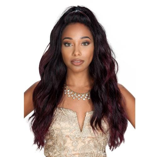 PM-LFP LACE BRADY | Zury Sis Human Blend Lace Front Wig - Hair to Beauty | Color Shown: SOMBRE T 99J