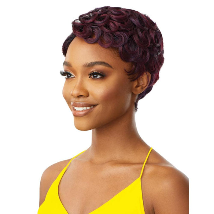 PORTIA | The Daily Synthetic Lace Part Wig - Hair to Beauty | Color Shown: DR Plum Violet