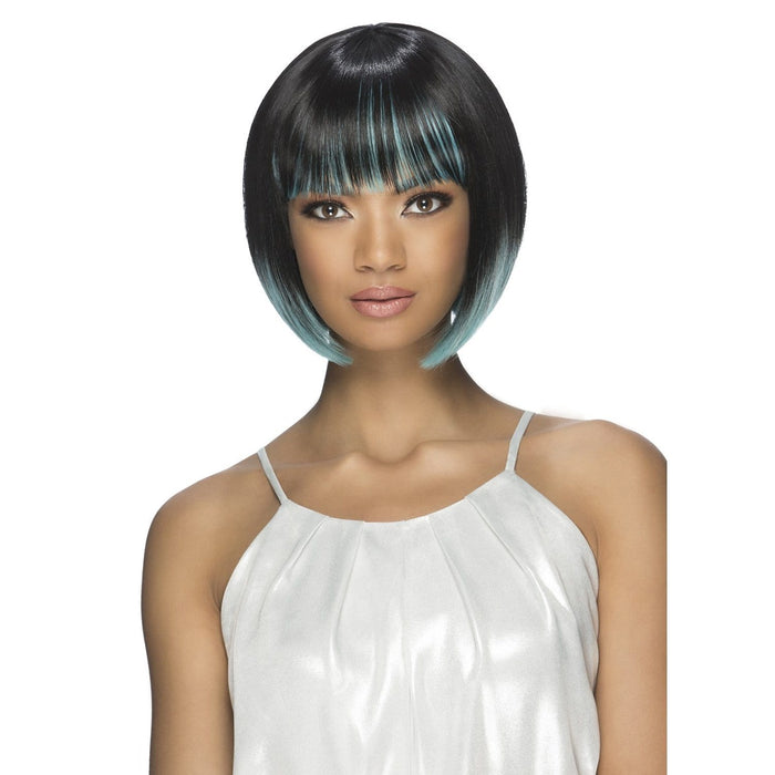 PRESLEY | Synthetic Pure Stretch Wig - Hair to Beauty | Color Shown: TTU1B/AQUA