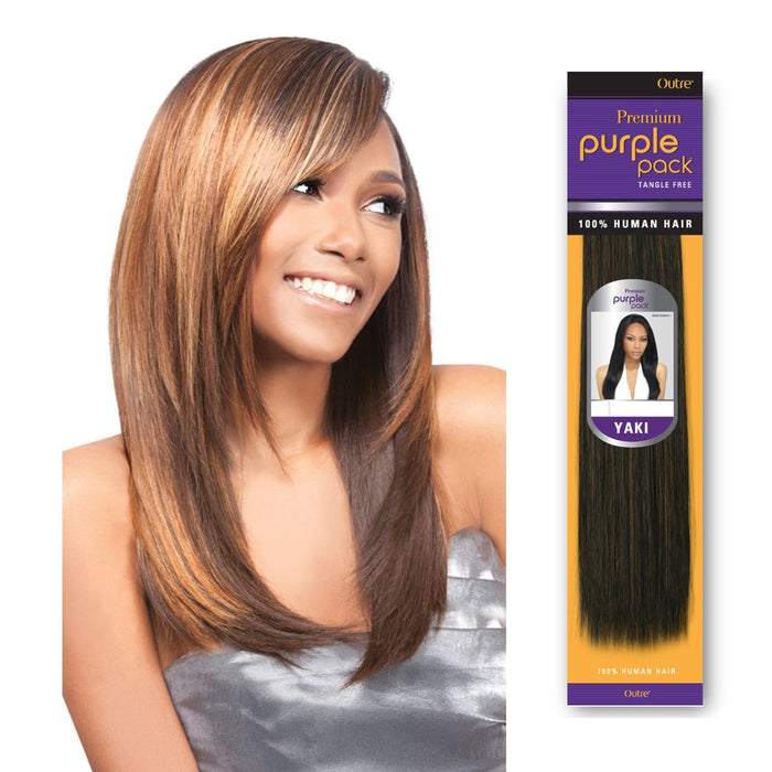 PURPLE PACK YAKI | Human Hair Weave - Hair to Beauty | Color Shown : 4+27+30