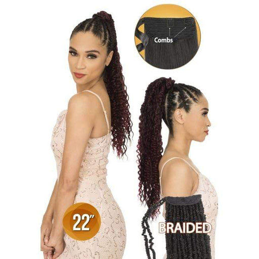 PWB22 | Chade Synthetic Braid Ponytail - Hair to Beauty | Color Shown :