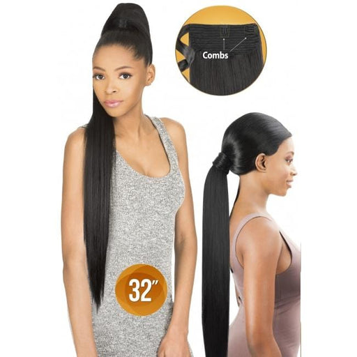 PWS32 - Chade Wrap N Tail Synthetic Braid Ponytail - Hair to Beauty | Color Shown : 1B