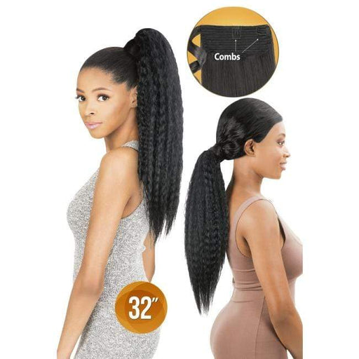 PWW32 - Chade Wrap N Tail Synthetic Braid Ponytail - Hair to Beauty | Color Shown : 1B