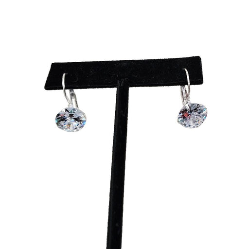 E1003 | Silver Clear Rhinestone Pierced Earrings - Hair to Beauty