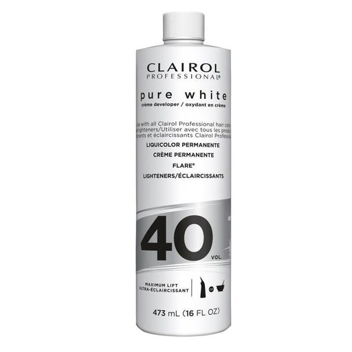CLAIROL | Pure White Creme Developer Vol.40 16oz - Hair to Beauty