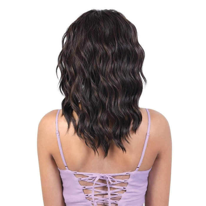 QE.GINNY | Motown Tress Quick N Easy Synthetic Half Wig - Hair to Beauty | Color Shown: F4/30