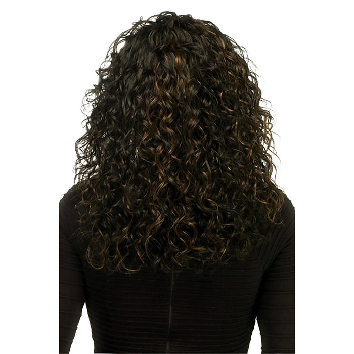 QUEENIE | Vivica A. Fox Remi Human Hair Deep Swiss Lace Front Wig - Hair to Beauty | Color Shown: FS1B/30