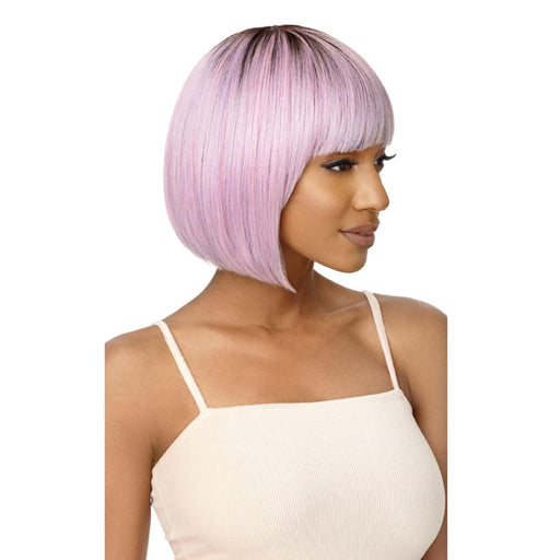 QUINN | Outre Wigpop Synthetic Full Cap Wig - Hair to Beauty | Color Shown: DR4/CANDY PINK